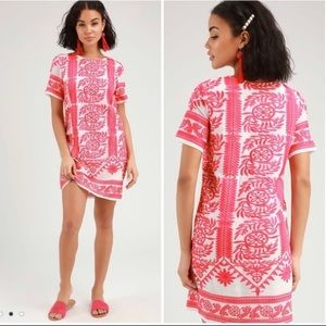"""Lulus / """"Fond of you"""" Embroidered Shift Dress"""